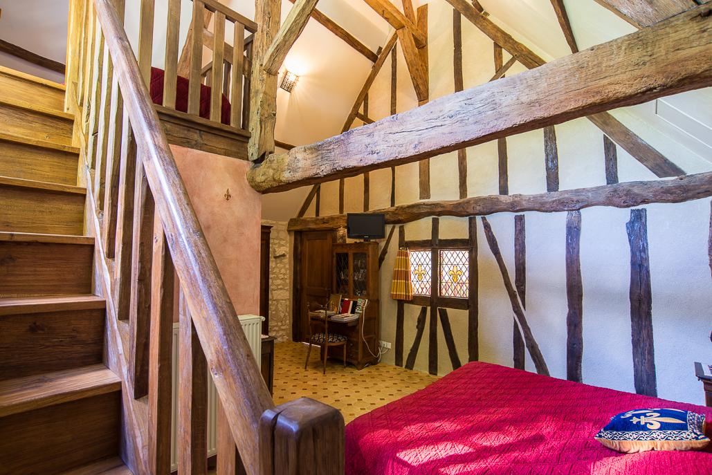Torre  mayo   habitaciones del señor  aro Medievale-escalier